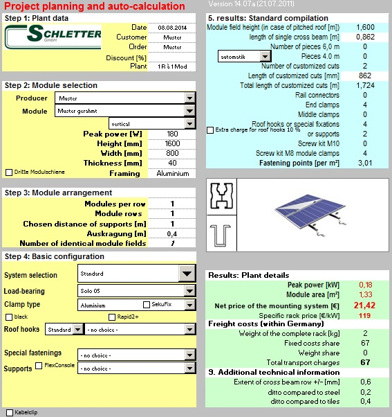 Schletter software